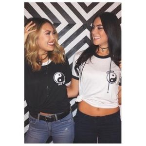 Tops - Big/Little ying-yang tee